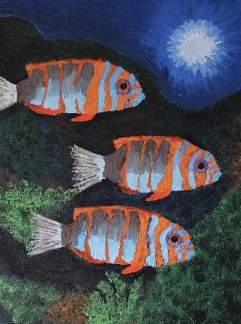 Three Tropical Fish
