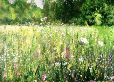 wild grass painting
