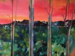 Experimental Landscape & Birch trees