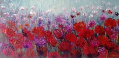 Red Flowers Field