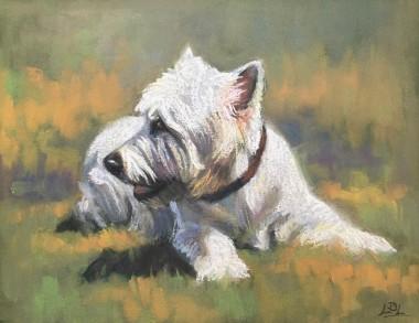 Westie Dog Painting
