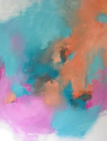 Softly, softly Tangerine, pink & turquoise