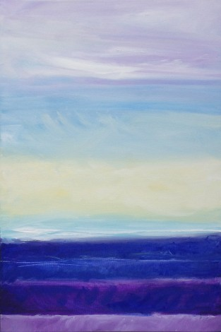 Abstract sky and moor landscape