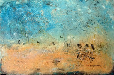 In the paintings of the Atmosfere Sospese series, light is the protagonist of the entire production.