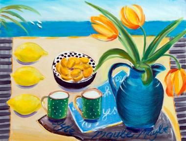 Kumquat Still Life painting for sale