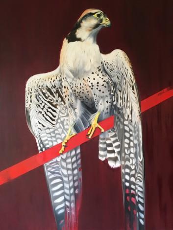 Realistic wildlife painting, animals, birds, street/urban,urban,