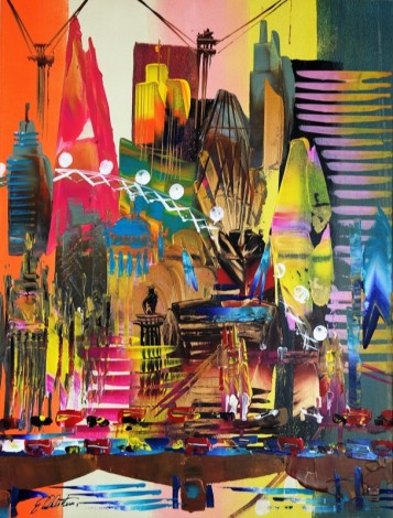 London Cityscape Abstract 655