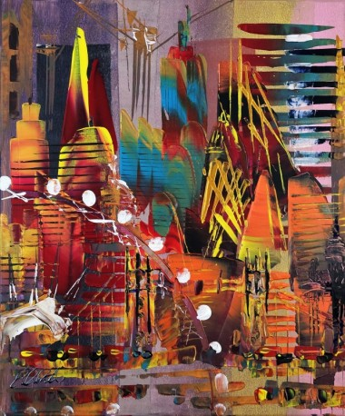 London Cityscape Abstract 680