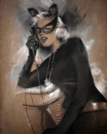 Retro Marilyn Monroe Catwoman