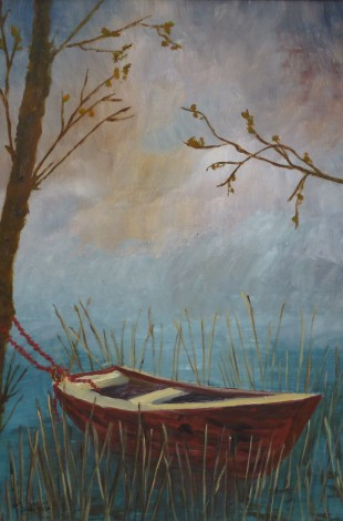 Moored among the Reeds