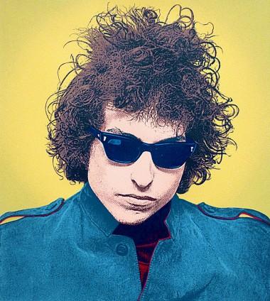 "Original print of Bob Dylan ""Motorcycle Emptiness"" by artist Robert McSpadyen"
