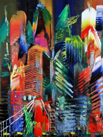 New York City Tall Abstract 975
