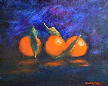 Oranges On Blue