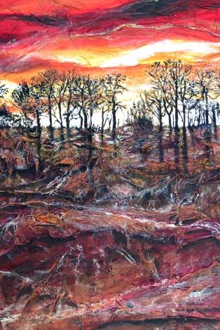 Orange Sky Trees