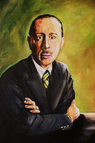 Stravinsky as a young man.