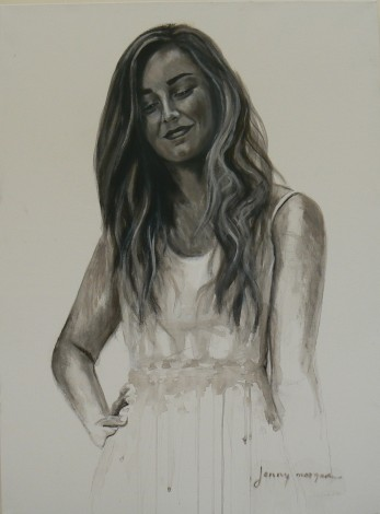 #portrait #woman #beauty #acrylicink #black&white #love
