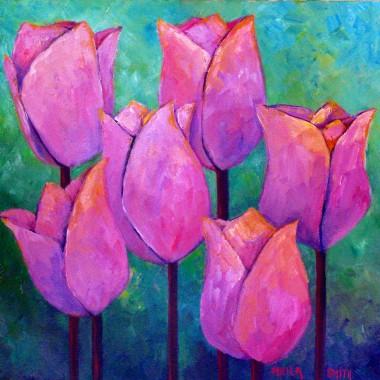 Pal pink purple tulips