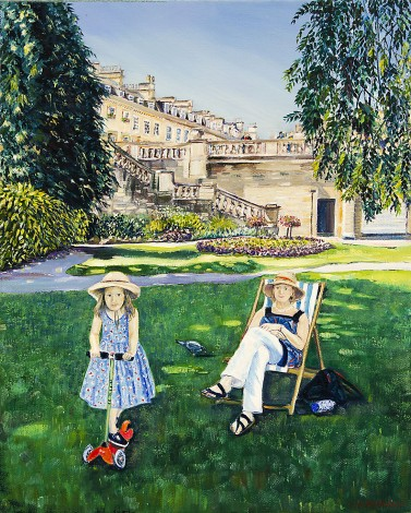 Parade Gardens Playtime painting for sale