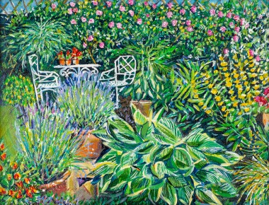 PATIO OF PROFUSION painting for sale