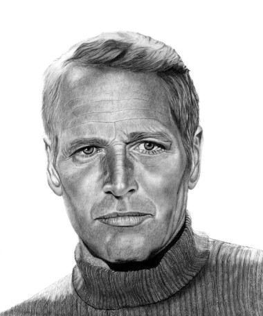 Paul Newman in Pencil