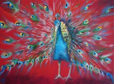 Abstract Peacock Facing