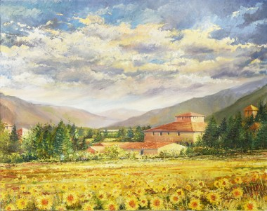 Sunflowers in Tuscany no frame
