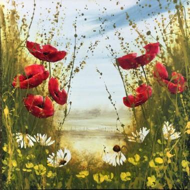 small poppy painting