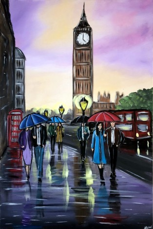 Purple `sunset In London