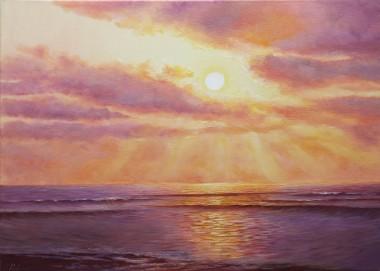Seascape Purple Sunset