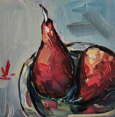 Red Poached Pears