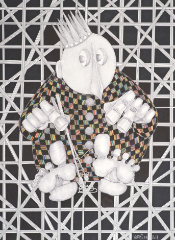 king,patterns,abstract,imaginary,drawing