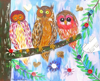 Quirky Colourful Owls