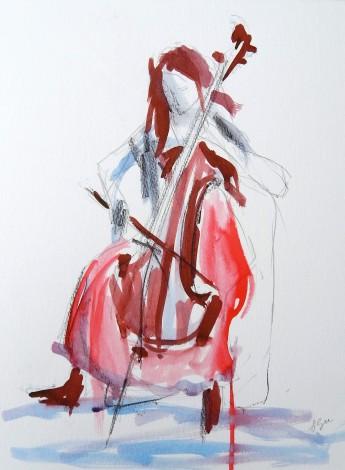 Cello Sketch: three
