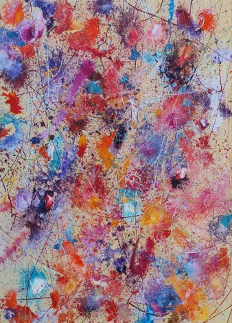 Sunshine and Flowers Abstract Art by Simon Slater Artist