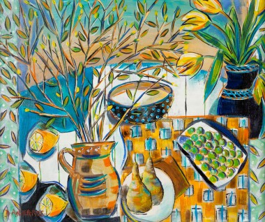 SPRINGTIME STILL LIFE painting for sale