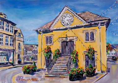 SUMMER AFTERNOON, TETBURY MARKET HALL painting for sale