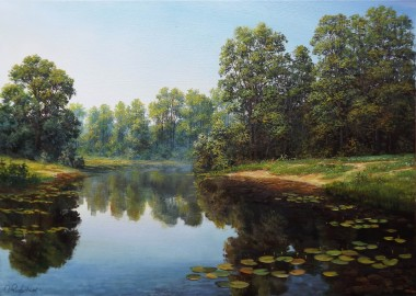 Oil Landscape Sunny Summer Day