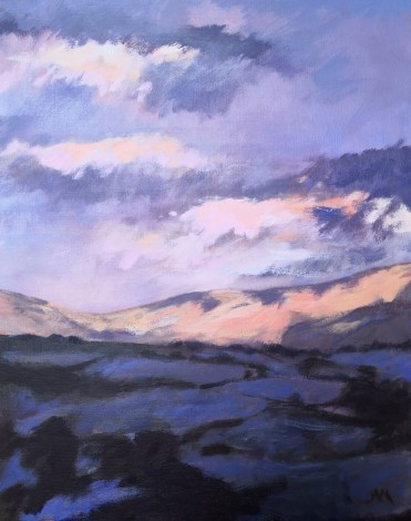 sunset hills clouds dusk