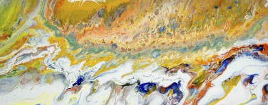 The sea and the surf. abstract painting.  full frontal