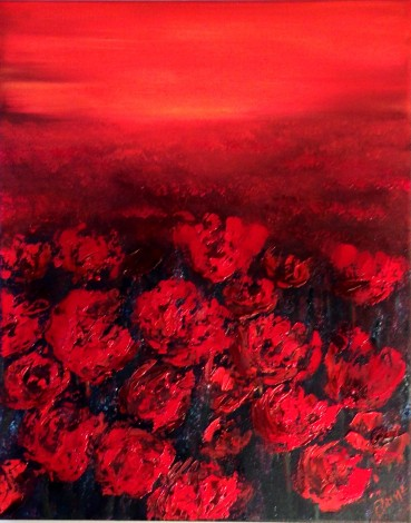 Red field of Poppies