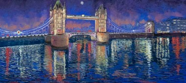Tower Bridge at Night Reflections