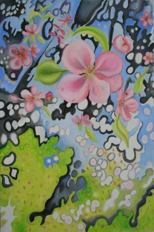 Hardwick Hall,Apple Blossom & Shadows I