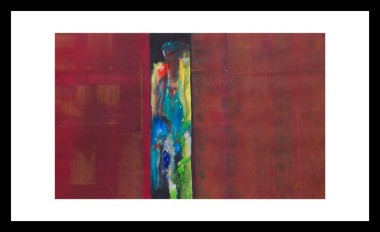mysterious abstract figure painting