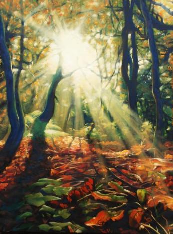 Waking Autumn, trees, Autumn, woodland
