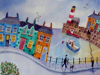 promenade naive painting