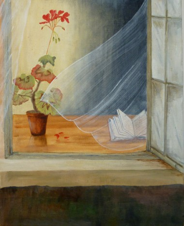 Window with Lace Curtain