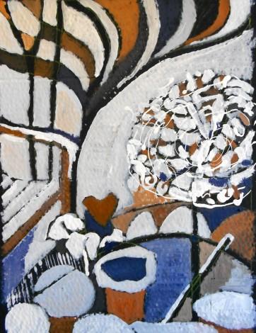 abstract artwork of a winter garden