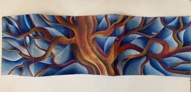 Unframed Winter Poetic Tree of Lif