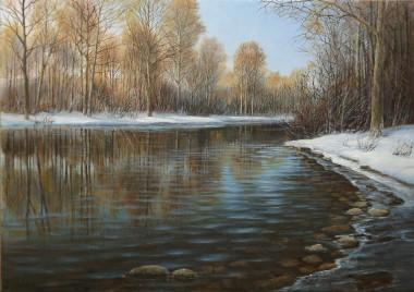 Landscape Winter River