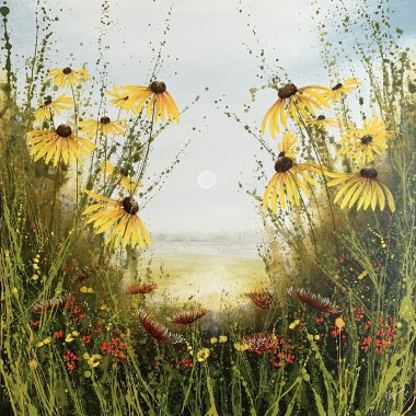 yellow daisy painting